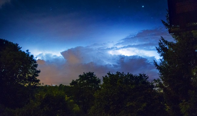 Beautiful storm above Ljubljana