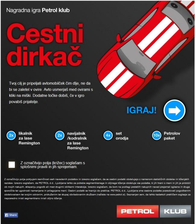 Petrol | Cestni dirkač