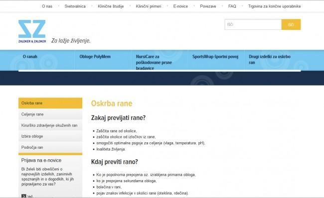 Zaloker & Zaloker | spletna stran rane.si