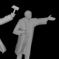 lenin low poly